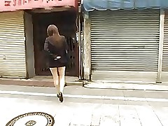 short petticoat asian flashing voyeur