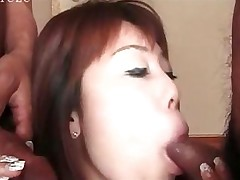 big cock blowjob sucking asian handjob