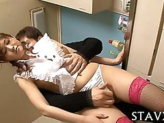 blowjob hardcore asian japanese stockings