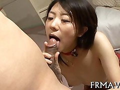 blowjob hardcore sucking asian brunette japanese
