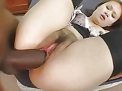 appealing japanese whore attains creampied bbc eln asian black ebony