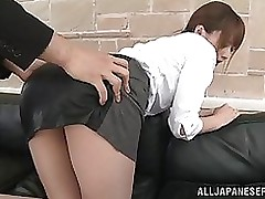 terrific office milf akiho yoshizawa attains ball batter facial blowjob
