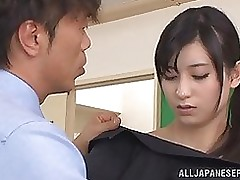 bold faced japanese educator mira tamana owned ache champs blowjob