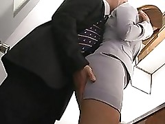 haruki sato purchases dug husband´s office blowjob cumshot hardcore milf