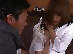 mihiro japanese secretary enjoys damp love making blowjob cumshot hardcore