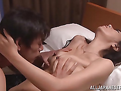 arousing japanese exemplar enjoys hardcore activity blowjob cumshot mature toys