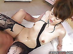 bounded asuka kyono hardcore finger pounding cocksucking appealing lingerie busty