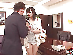 fascinating japanese office hottie acquires screwed facial asian fingering blowjob