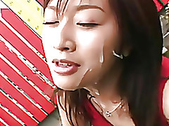 japanese cock cream facial hottie part censored queen