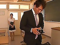 pretty japanese hottie passionate tutor benefits dong blowjob cumshot hardcore