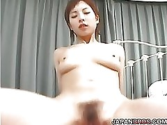 short haired japanese soaked love cage vibed pounded shlong sucking