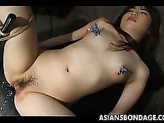 japanese sub wench obtains juicy wet crack teased asian bdsm