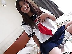 marvelous yukari teen school hottie striptease stroking useful uniform busty