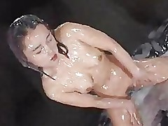 bukkake shower tomosaki roofed cock cream moaning f70 asian funny