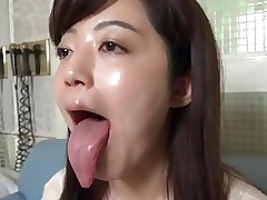 aki tongue showing fixation fetish spitting spit mouth saliva licking