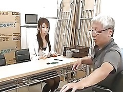 japanese grandad having satisfaction amateur angels part grandpa girls