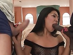 rawvidz video: appealing japanese hair threesomes anal interracial cock blowjob